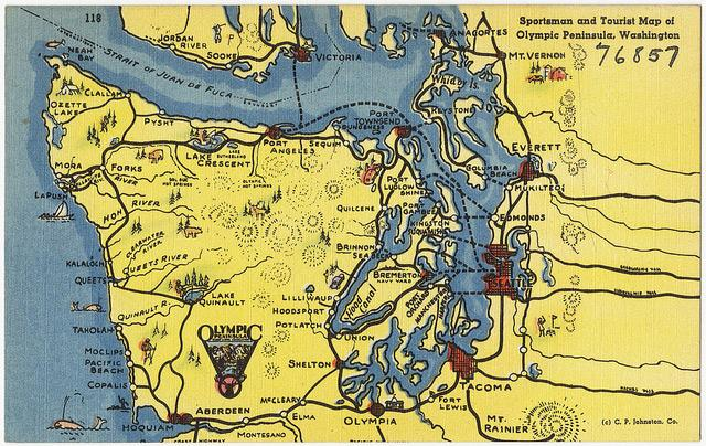 Map of the Olympic Peninsula Loop